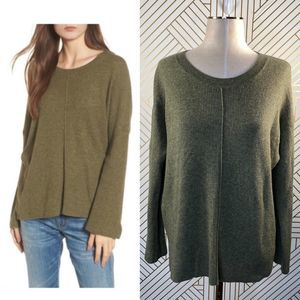 Madewell Northroad Pullover Sweater in Olive Green